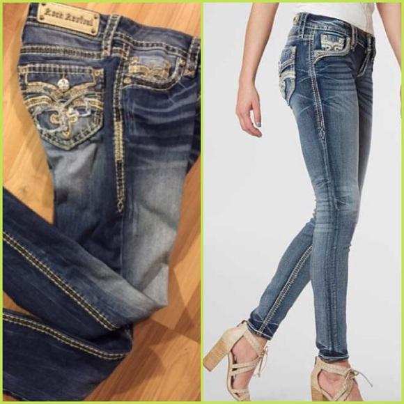 6b8e9ae83ca 🎸ROCK REVIVAL Raven Skinny 26 Jeans 🆕 WOTS. M 5ab3e6149a94551b5e0e53ef